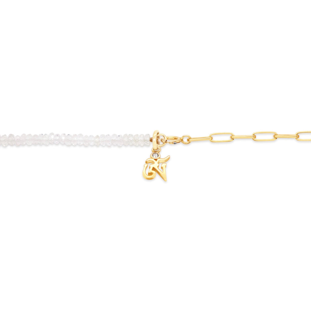 OM 4-in-1: White Sapphire and Sterling Silver in Gold Vermeil