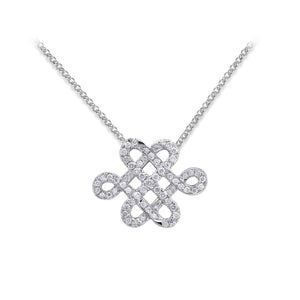 YOUNG BY DILYS' Legacy Eternal Knot Necklace in 18K White Gold