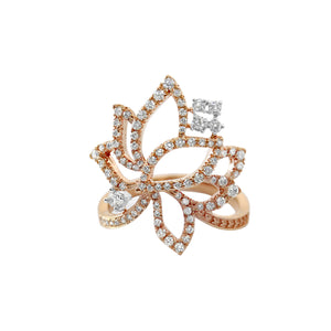 YOUNG BY DILYS' Legacy Lotus Ring in 18K Rose Gold