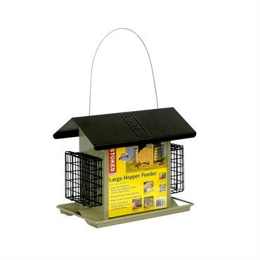 7.9# LARGE HOPPER WITH SUET FEEDER