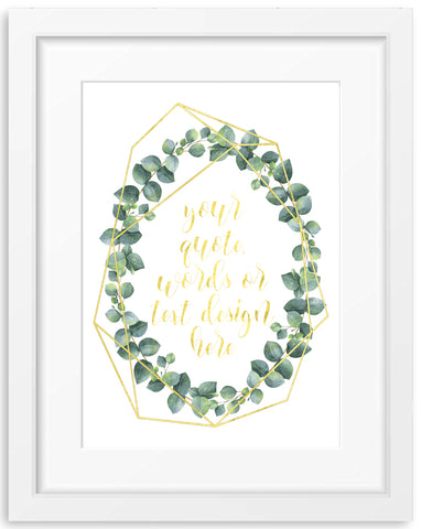 Eucalyptus Watercolour Wreath 2