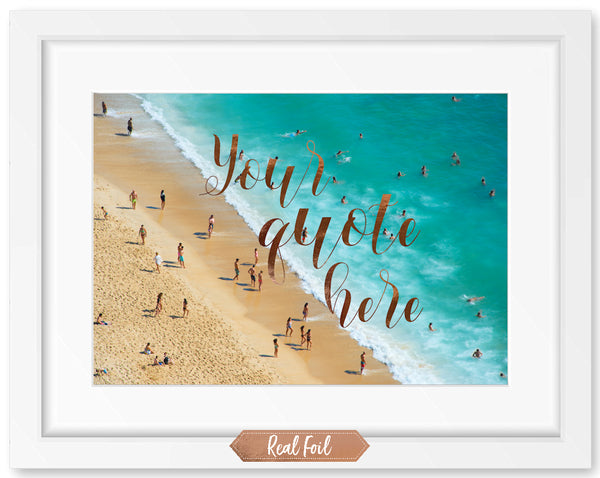 Photograph Premium Background - Crowded Beach