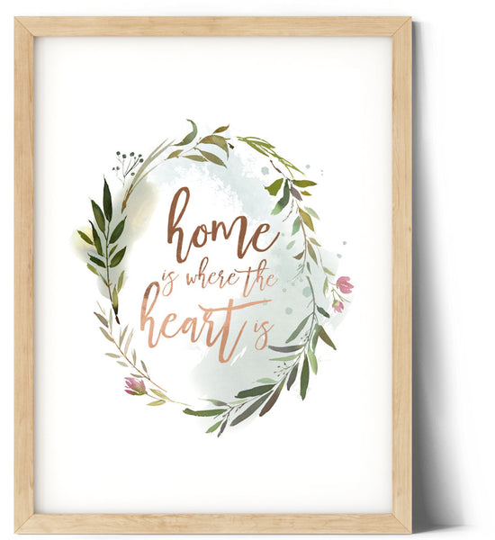 Ocean Green Wreath Print - Home