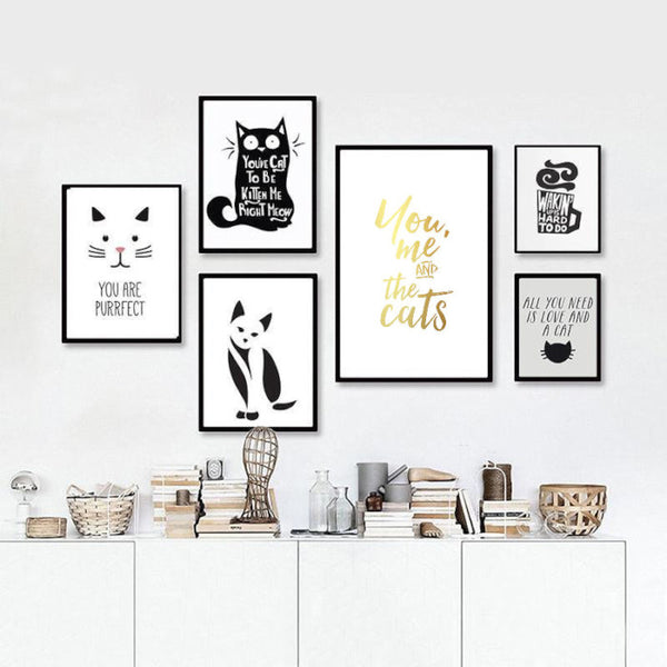 You, me and the cats | Foil Print
