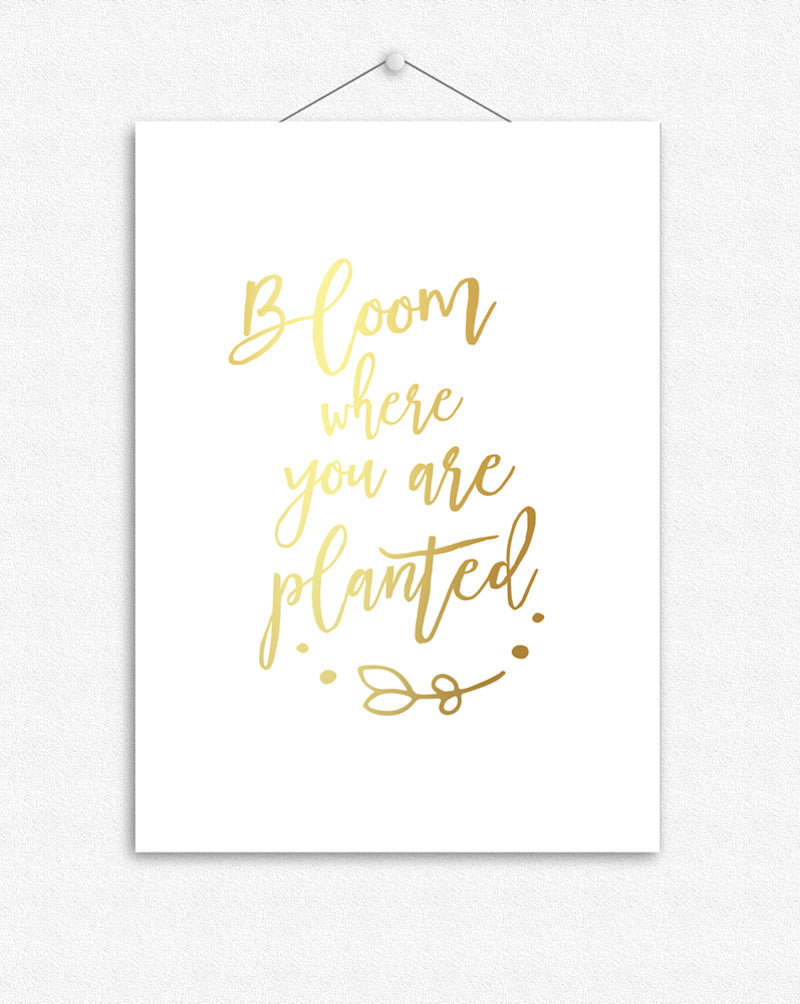 Bloom where you are planted | Foil Print