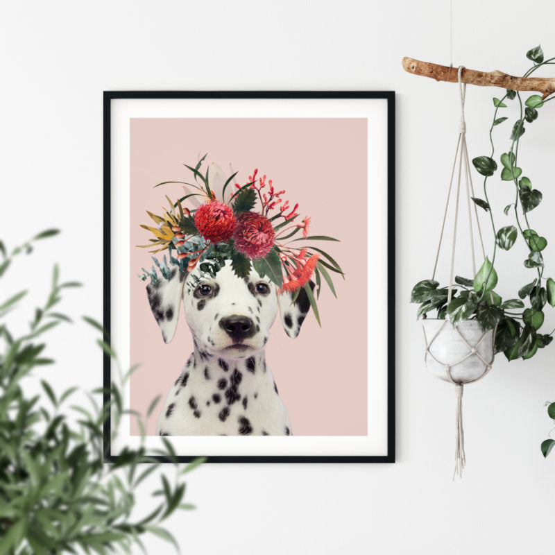 Native Florals & Dalmation Puppy