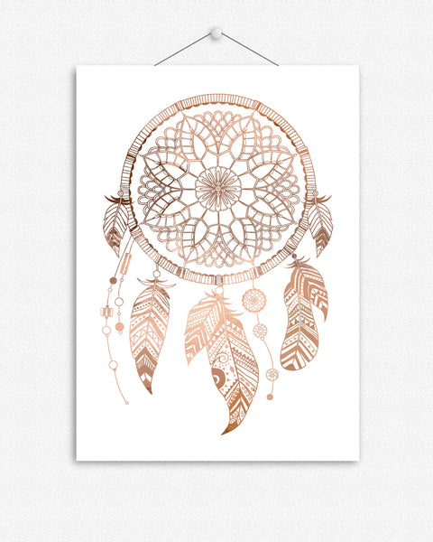 Boho Dream Catcher in Foil