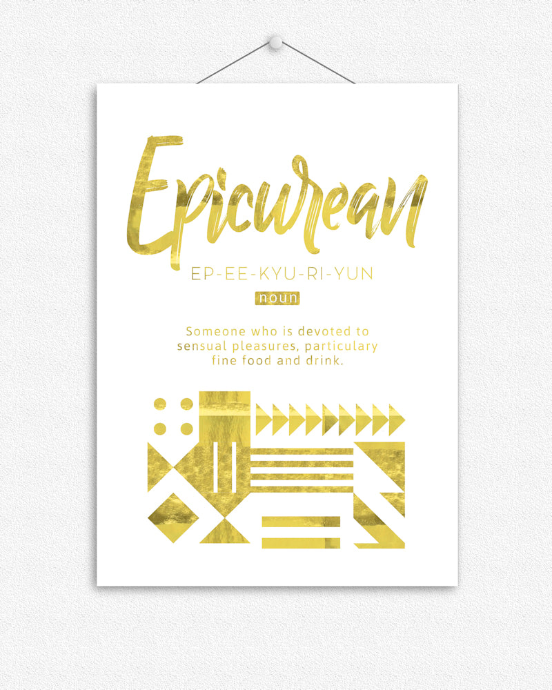 Epicurean | Foil Print