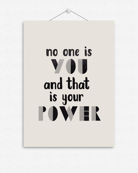 Your Power | Foil Print