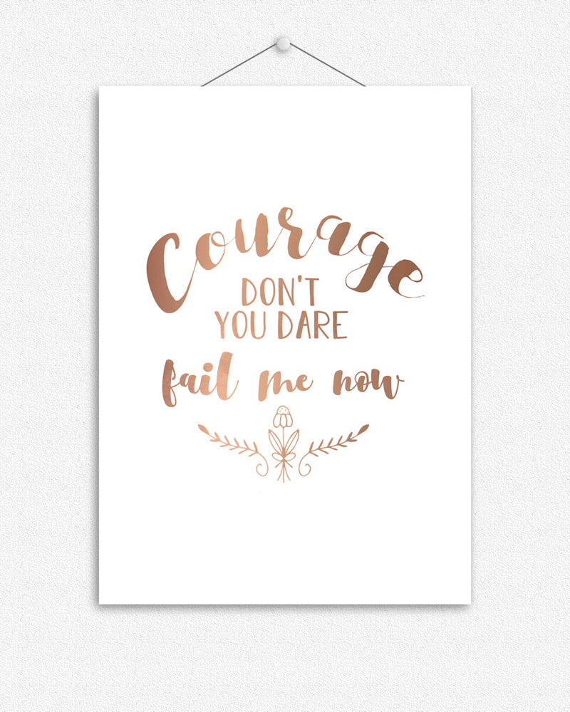 Courage II | Foil Print