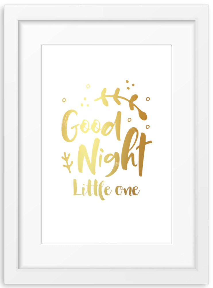 Good Night Little One | Foil Print