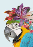 Native Florals & Parrot