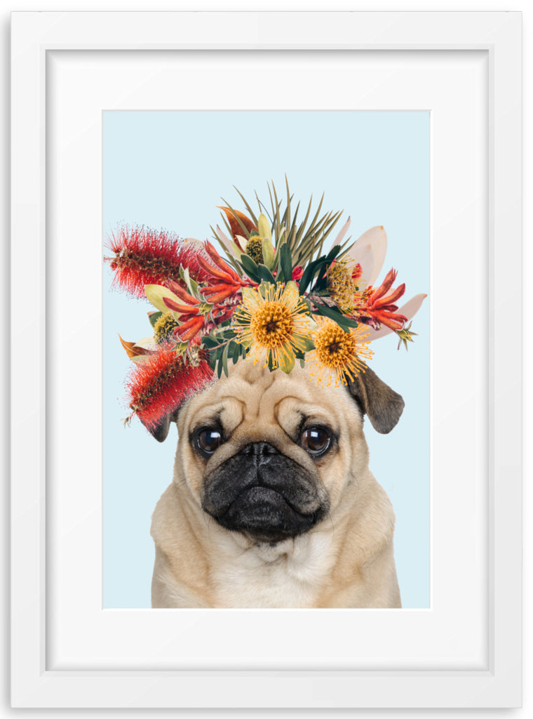 Native Florals & Pug