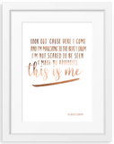 This is me | Quote Foil Print
