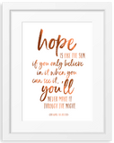 Star Wars ■ Hope |  Quote Foil Print