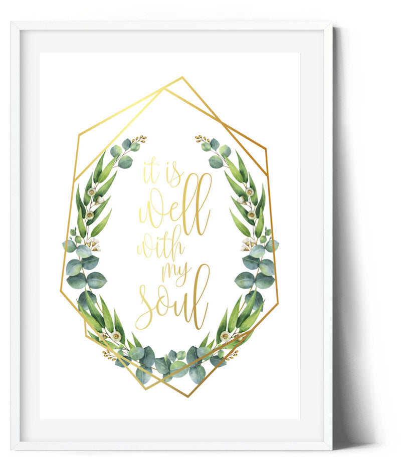 Eucaluptus Wreath Print - It's all well with my soul