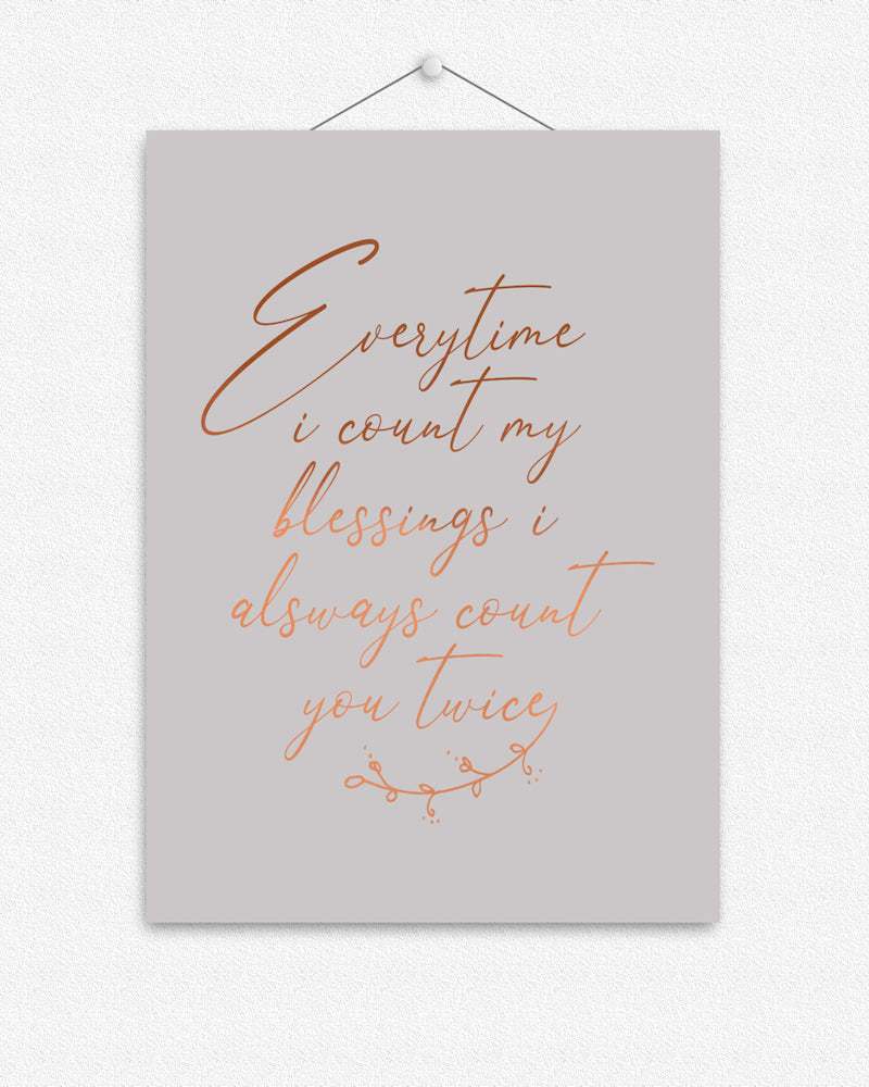 Count my blessings | Foil Print
