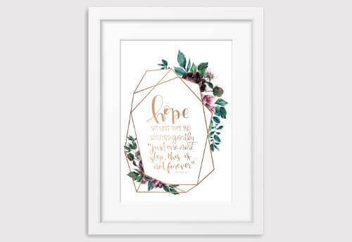 Wreath Foil Prints