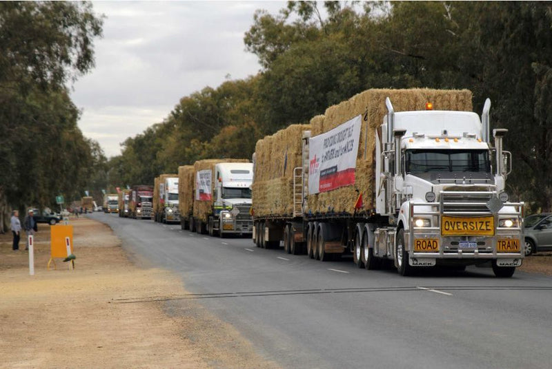 WA Convoy Delivers Much-Needed Hay to Drought-Stricken NSW Farmers
