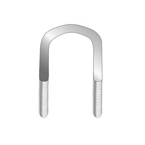 M8 x 50mm Curved U-Bolt Zinc