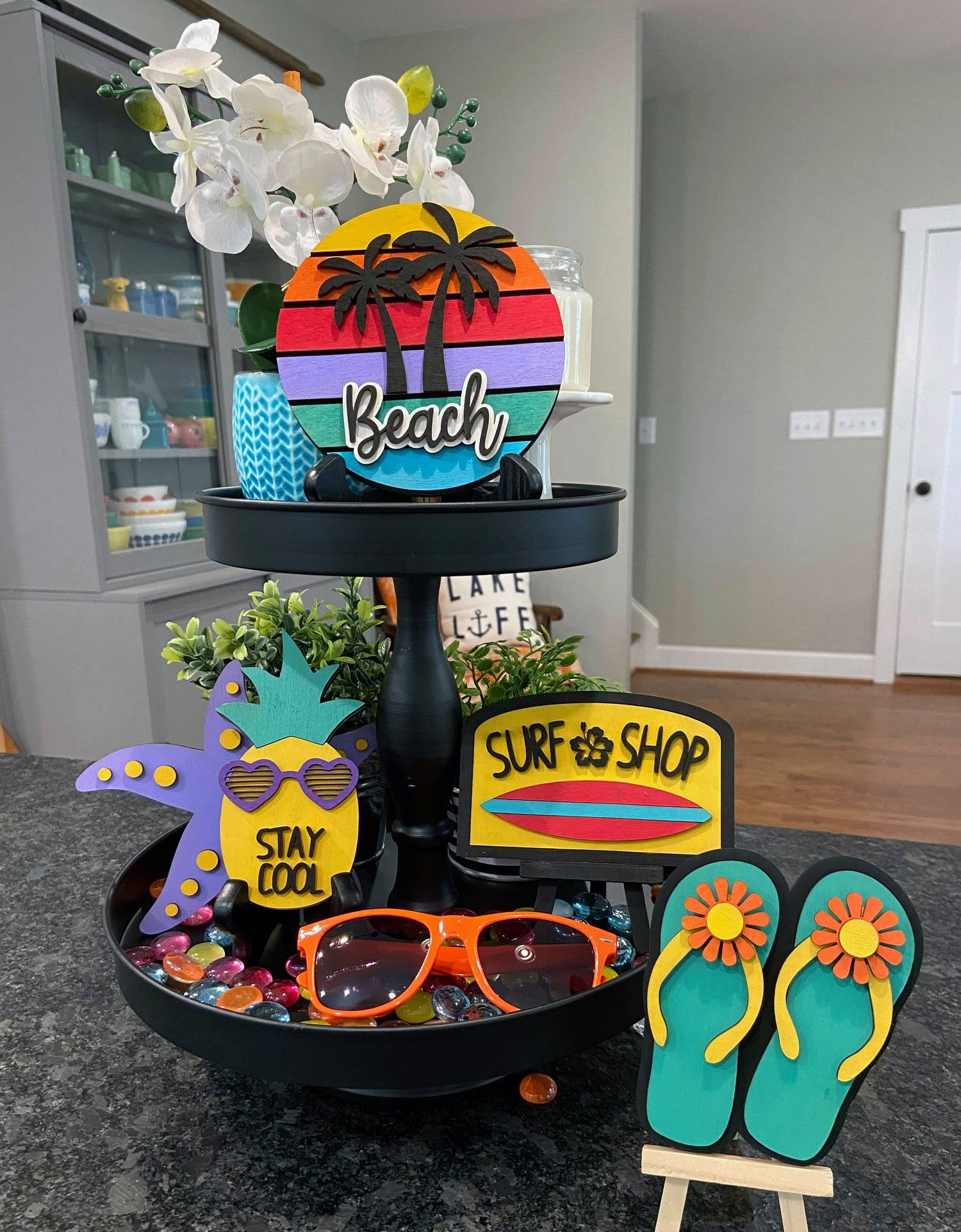 Flip Flops at the Beach Tiered Tray Bundle