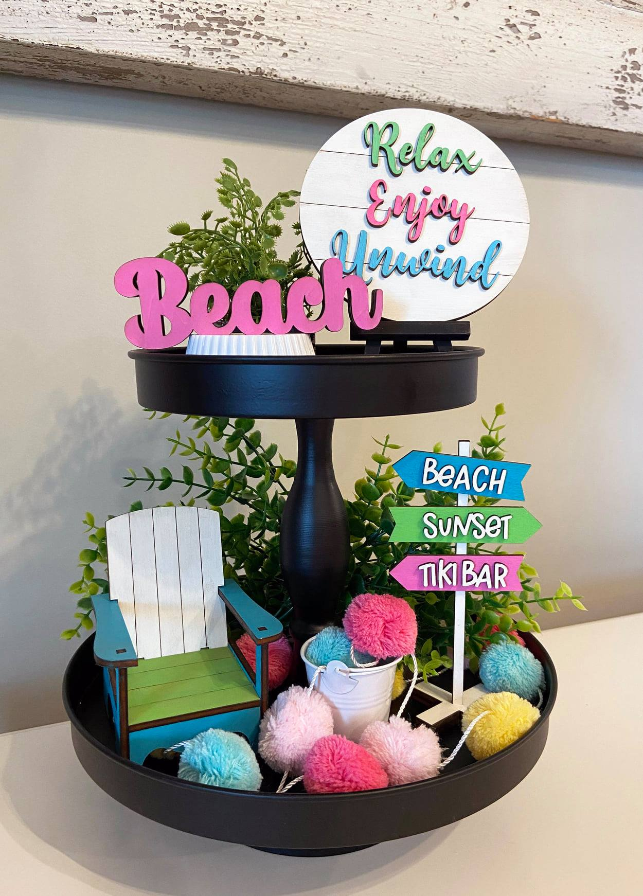 Relaxing at the Beach Tiered Tray Bundle