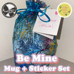 Load image into Gallery viewer, Be Mine - Mug + Sticker Set (Free Gift Wrap!)