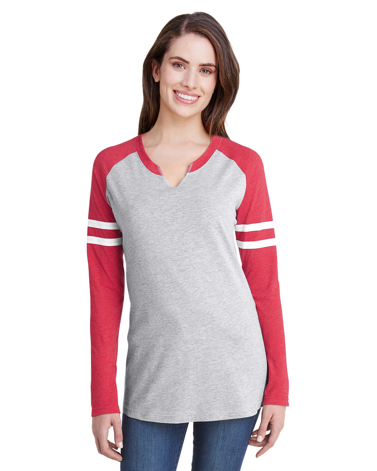 Ladies' Gameday Mash-Up Long Sleeve Fine Jersey T-Shirt