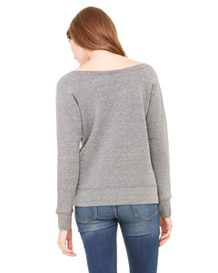 Women's Sponge Fleece Wide Neck Sweatshirt - Bella Canvas 7501