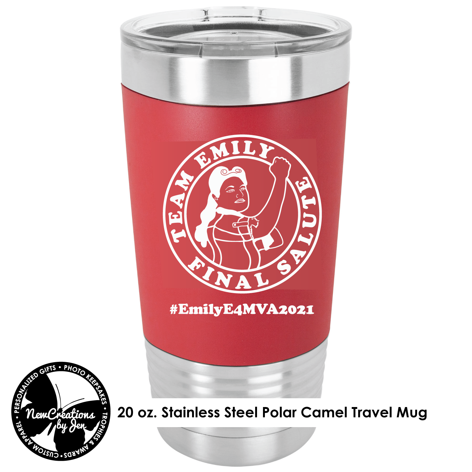 E4MVA2021 Silicone Grip Stainless Steel Tumbler - Red