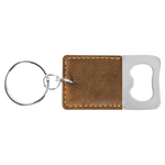 Load image into Gallery viewer, Personalized Leatherette Bottle Opener Keychain