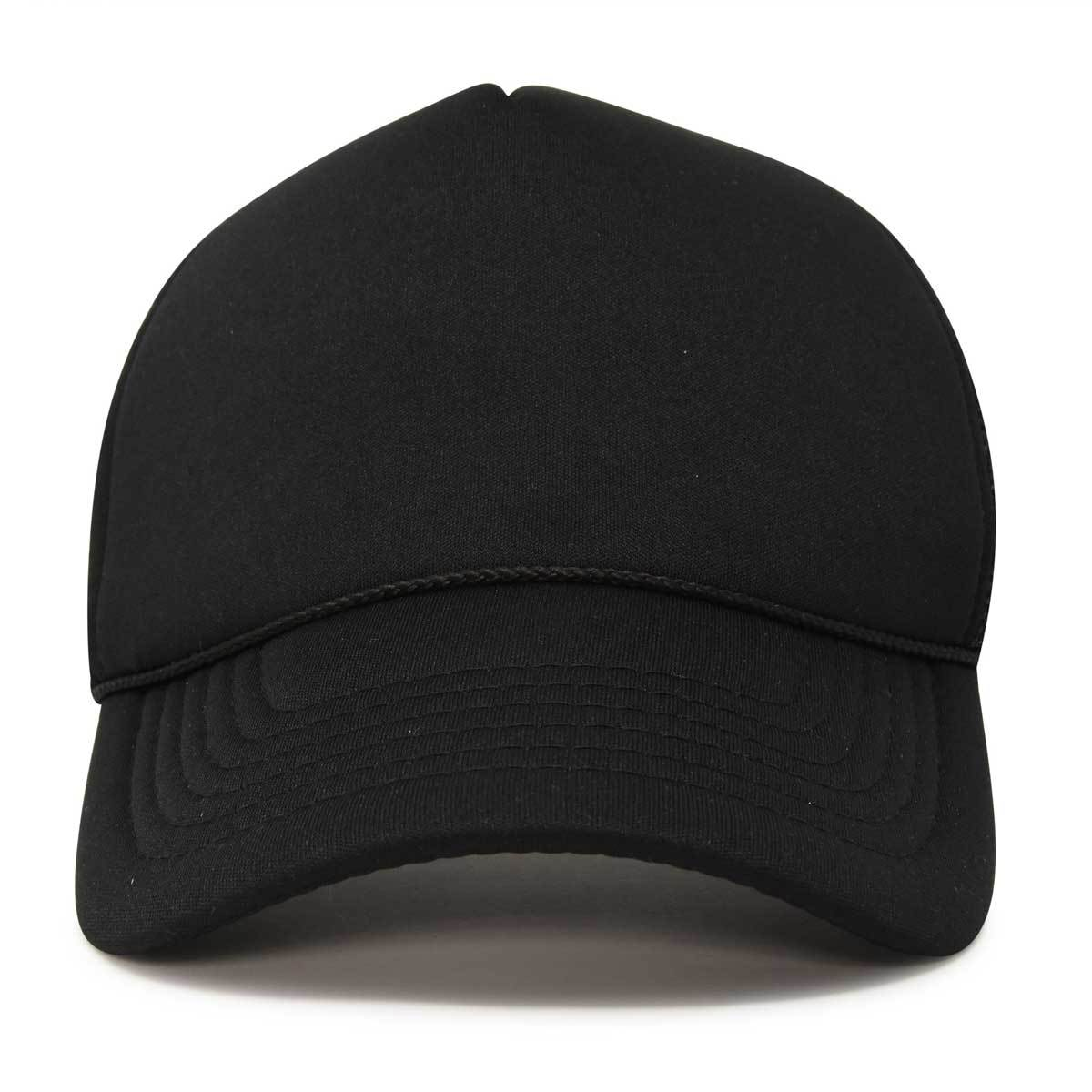 Basic Trucker Hat with Mesh Back Adjustable Snapback Cap