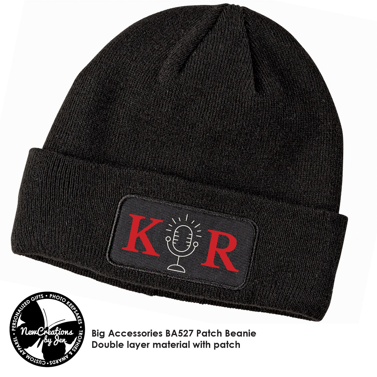K&R Beanie Cap with patch BA527