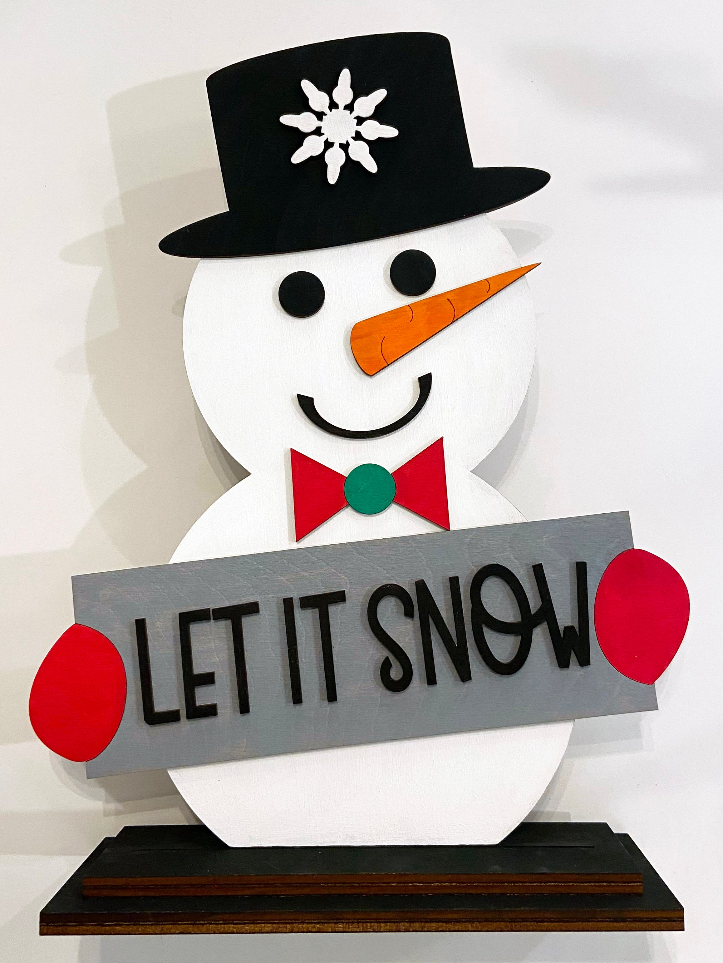 Let it Snow - Ready to Paint Shelf Sitter