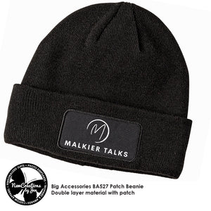 Malkier Beanie Cap with Patch Art