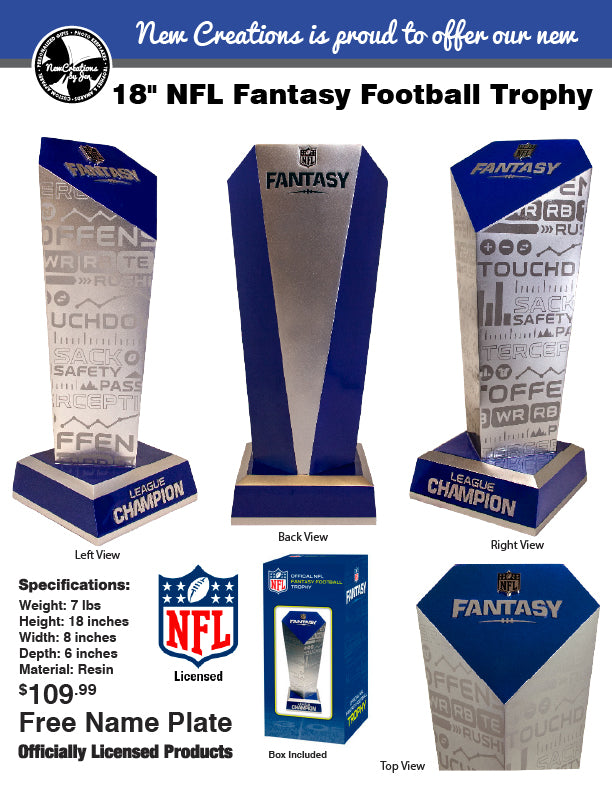 Officially Licensed NFL Fantasy Football Trophy - PRESALE