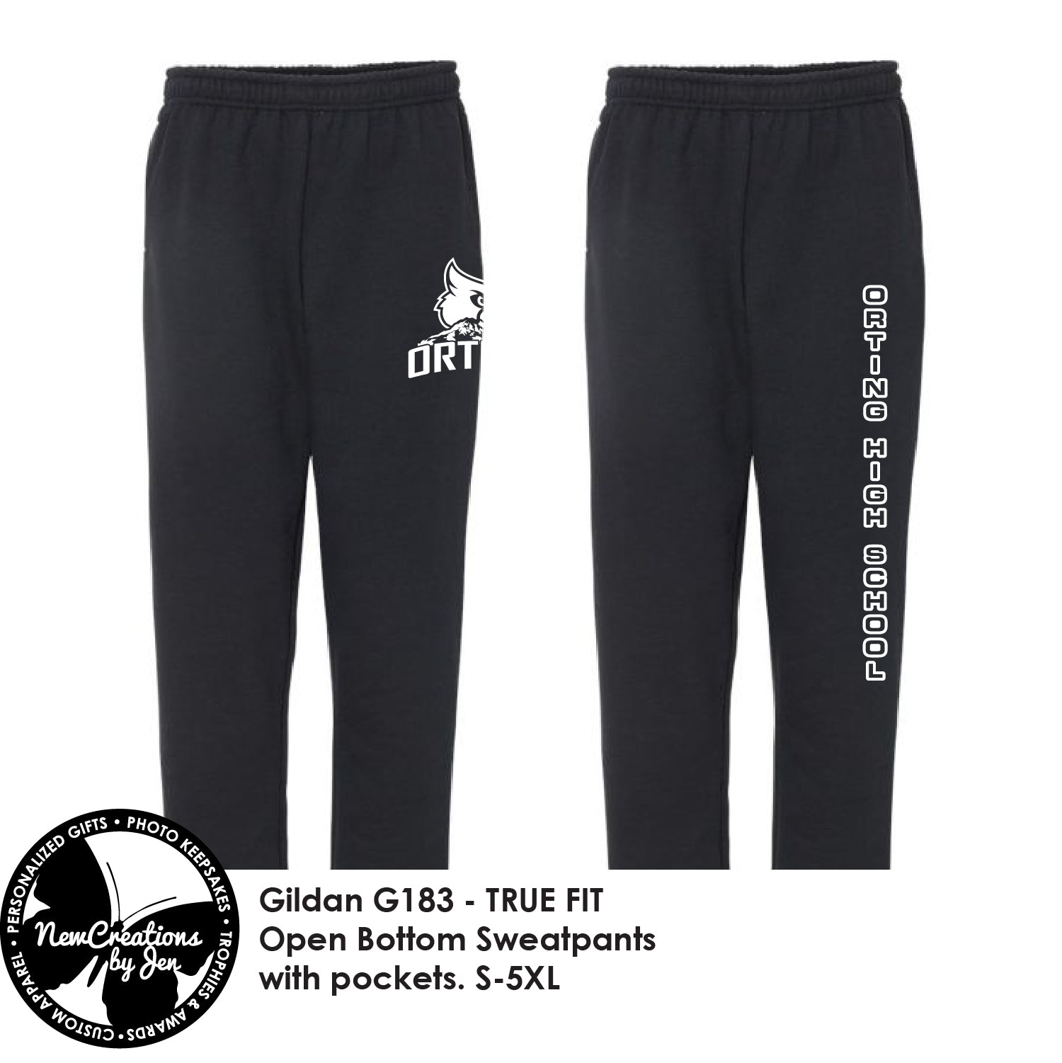 PG2021-Gildan Adult Open-Bottom Sweatpants with Pockets