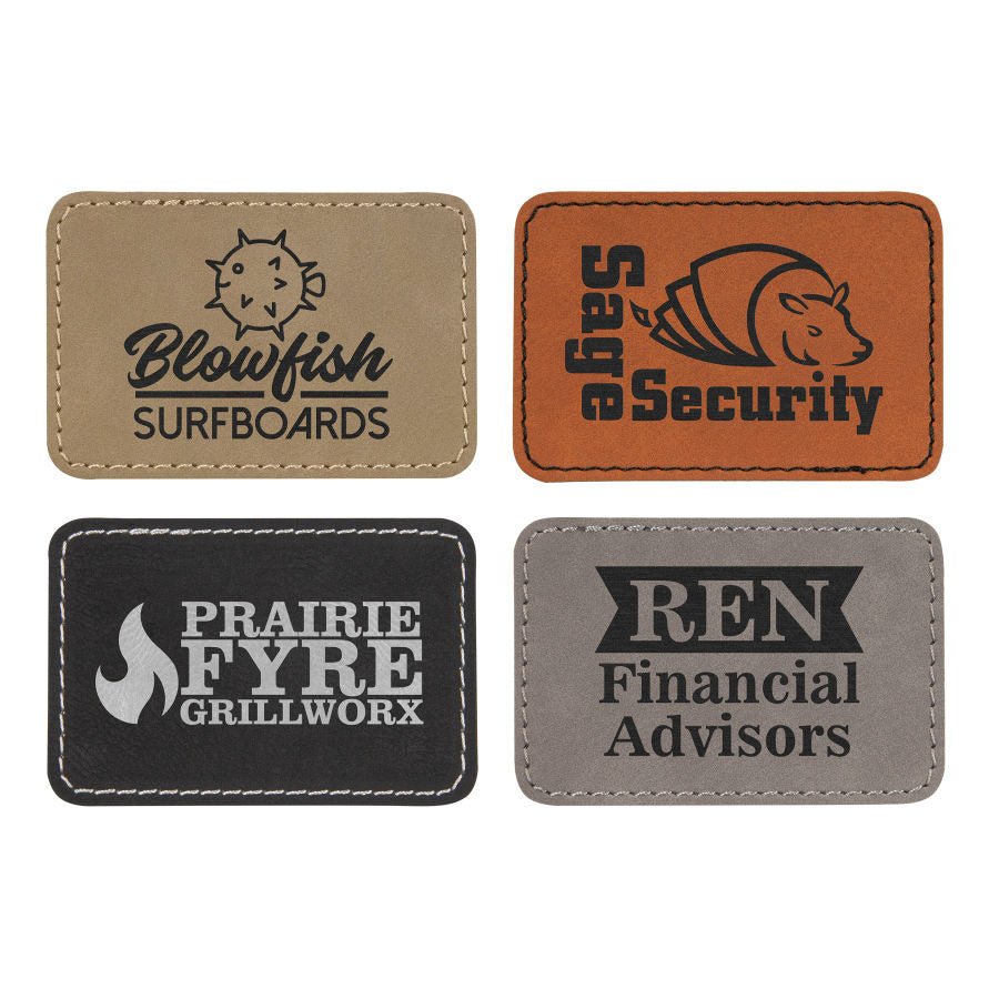 Iron-On Leatherette Patches