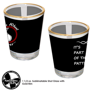 TWW - Shot Glass with The Wheel Weaves & Words