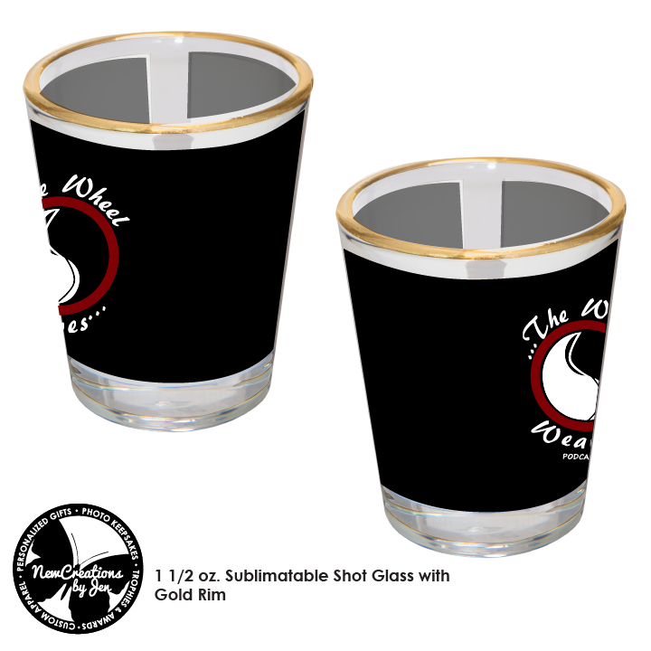 TWW - Shot Glass with The Wheel Weaves Logos