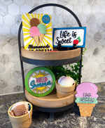 Load image into Gallery viewer, Hello Summer Ice Cream Tiered Tray Kit