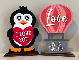 Penguin I LOVE YOU - Ready to Paint Shelf Sitter