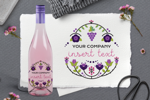 Wine Bottle Label - Full Color personalization