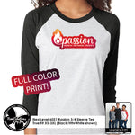 Load image into Gallery viewer, PASSION - NextLevel Baseball Raglan 3/4 Sleeve T-Shirt
