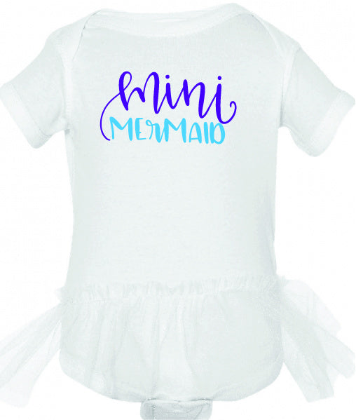 Mini Mermaid Tutu Onesie