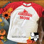 Load image into Gallery viewer, Cardinal Fan Unisex Raglan Baseball T-Shirt