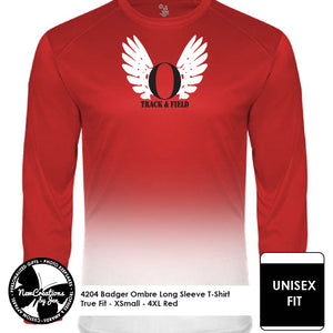 OHSTRACK Ombre Long Sleeve T-Shirt - Unisex