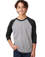 Load image into Gallery viewer, Youth 3/4 Sleeve Raglan Baseball T-Shirt