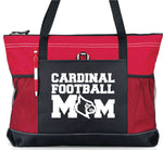 Load image into Gallery viewer, Cardinal Fan Large Custom Zippered Bag