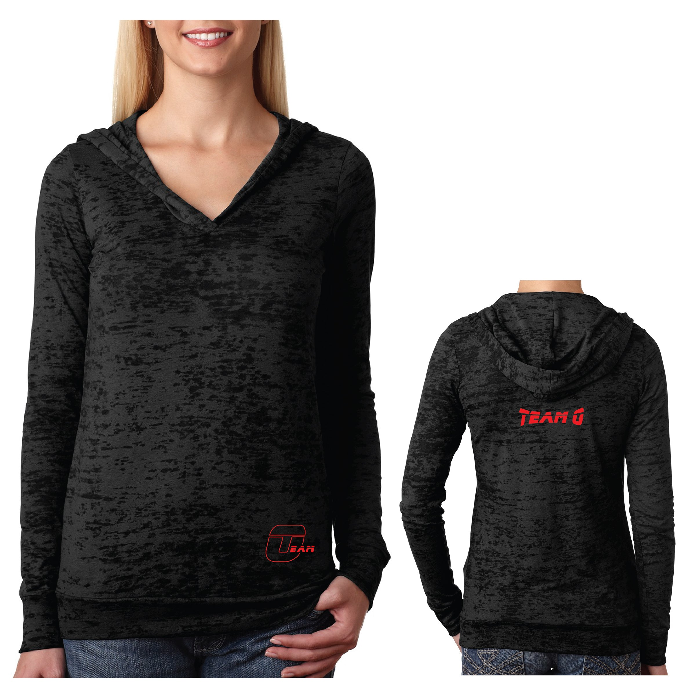 Team O Next Level Ladies' Burnout Hoody